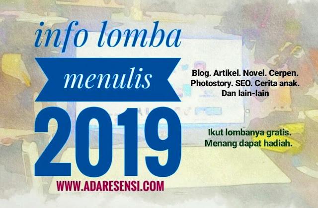 Info Lomba Menulis Tahun 2019
