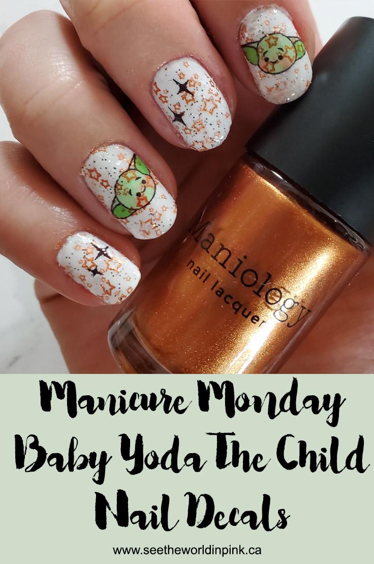 Manicure Monday - Baby Yoda The Child Nails