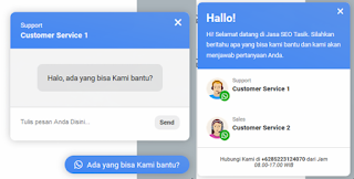 Cara Membuat Widget Tombol Link Chat Whatsapp Melayang di Blog