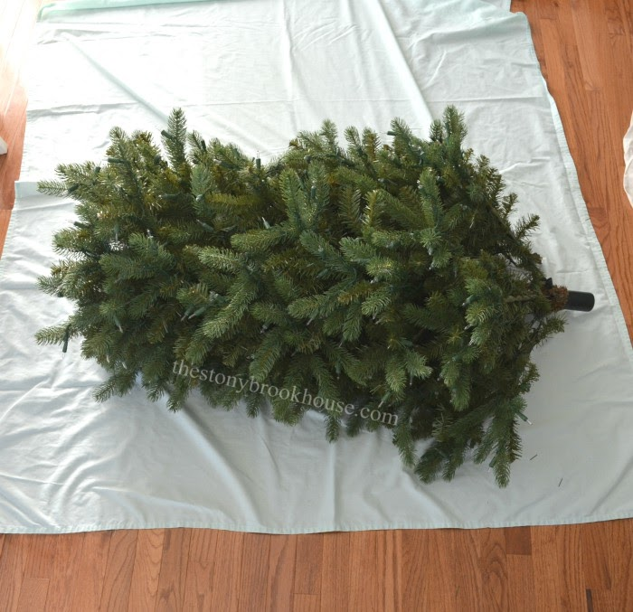 Center tree section on twin sheet