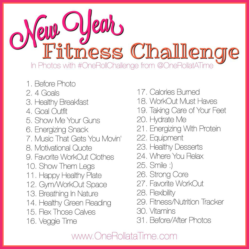 new year fitness challenge in photos with wwwonerollatatimecom