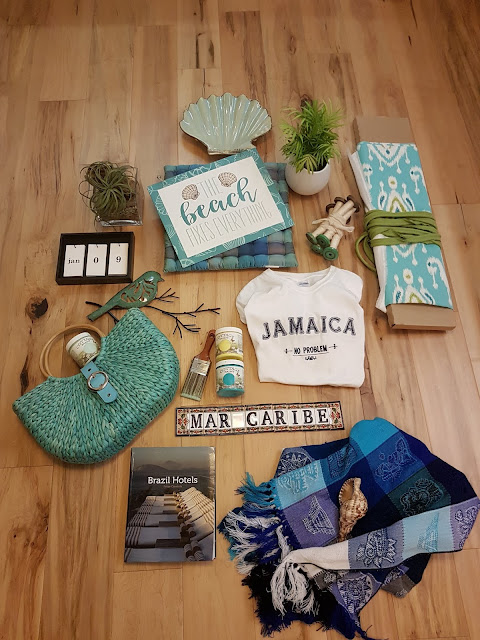 beach themed flat lay at The Camellia