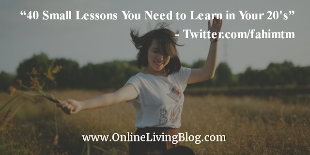 40 Small Lessons You Need to Learn