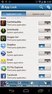تطبيق القفل التطبيق  AppLock للاندرويد والايفون