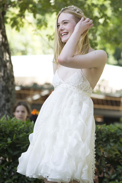 The romantic style of Elle Fanning at La Casa Del Cinema in Rome, Italy | Cool Chic Style Fashion