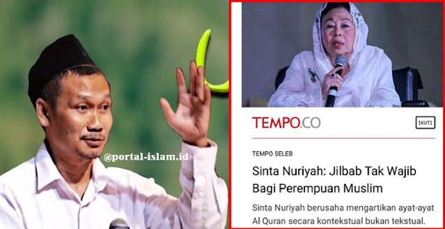 Sinta Nuriyah: Jilbab Tak Wajib Bagi Perempuan Muslim, Gus Baha: Jilbab Hukumnya Wajib