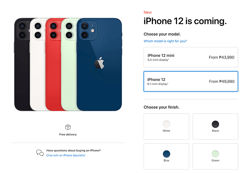 Apple iPhone 12, 12 mini, 12 Pro and 12 Pro Max priced in the Philippines!