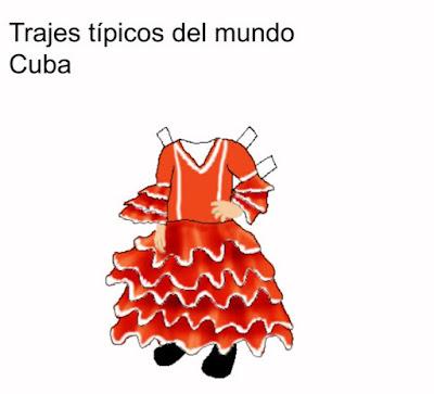 Trajes típicos del mundo: Cuba