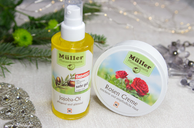 müller Pflanzenkosmetik Jojoba-Öl (ca. 7,69 €) und Rosen Creme (ca. 3,99 €)