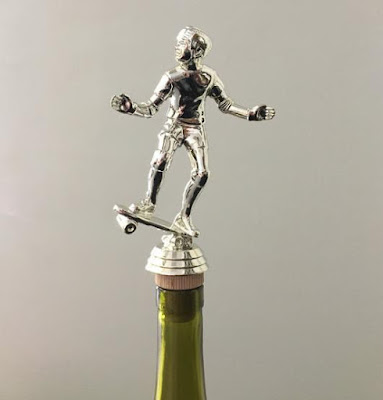 Skateboarder Bottle Stopper