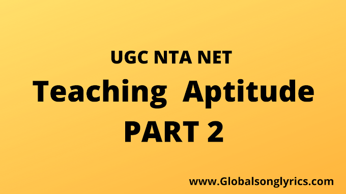 Teaching Aptitude Part 2 |Unit 1|