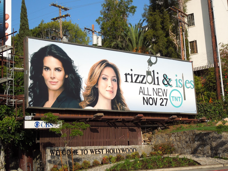 Rizzoli Isles season 3 TV billboard