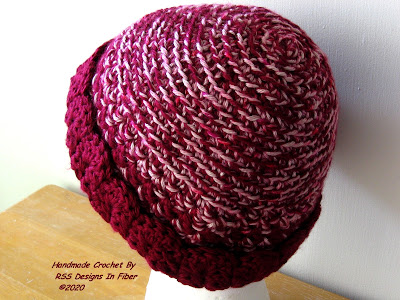 Red and Pink Ladies Hat For Winter - Nice Valentine Hat - Handmade By Ruth Sandra Sperling of RSS Designs In Fiber