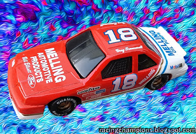 Greg Trammell #18 Bill Elliott Ford Racing Champions 1/64 NASCAR diecast blog Harry Melling age
