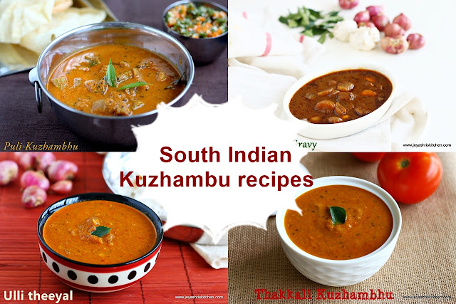 South Indian kuzhambu recipes