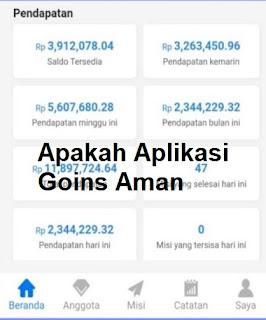 Apakah Aplikasi Goins Aman