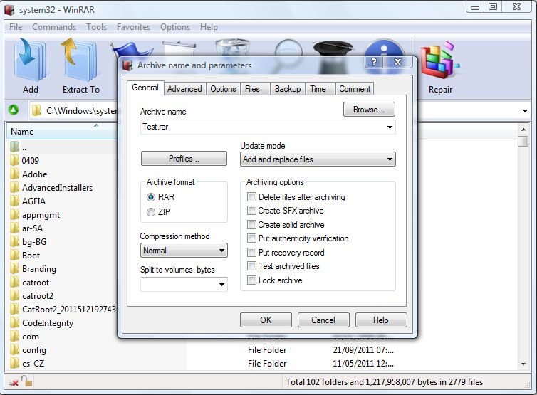 File too Large to fit on a CD or Pen drive? Use Winrar to