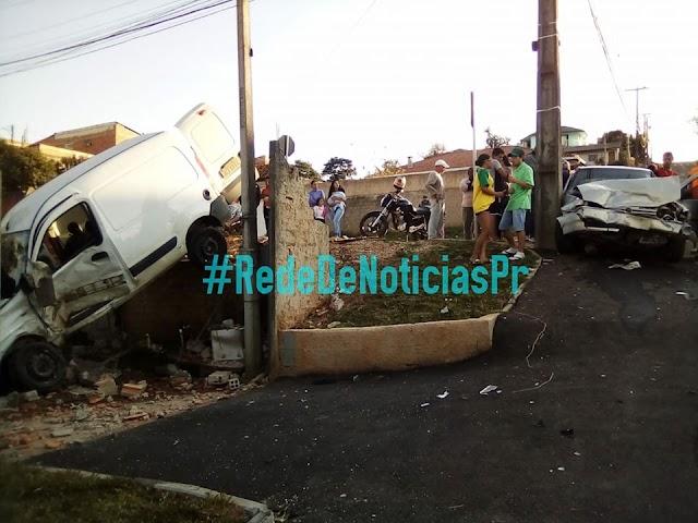 Van invade casa em grave acidente no Monte Castelo em Colombo