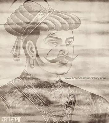 rana sanga also known as maharana sangram singh of mewar