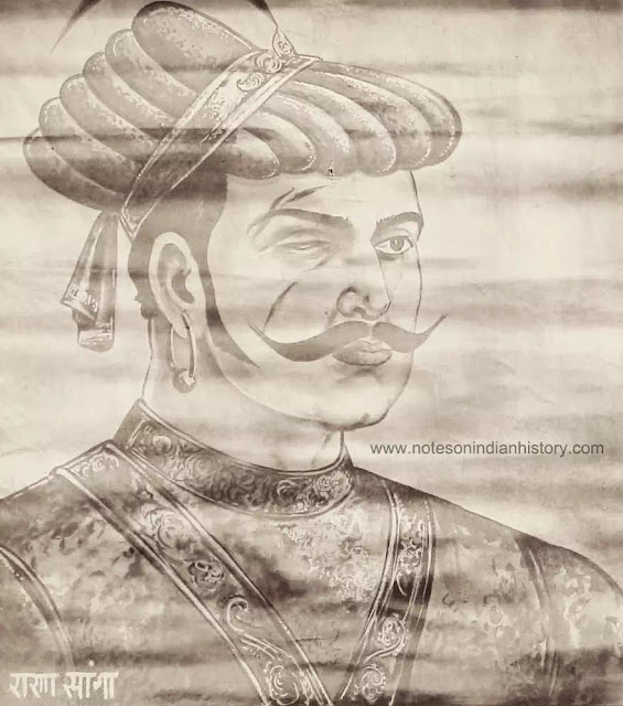rana sanga also known as maharana sangram singh of mewar