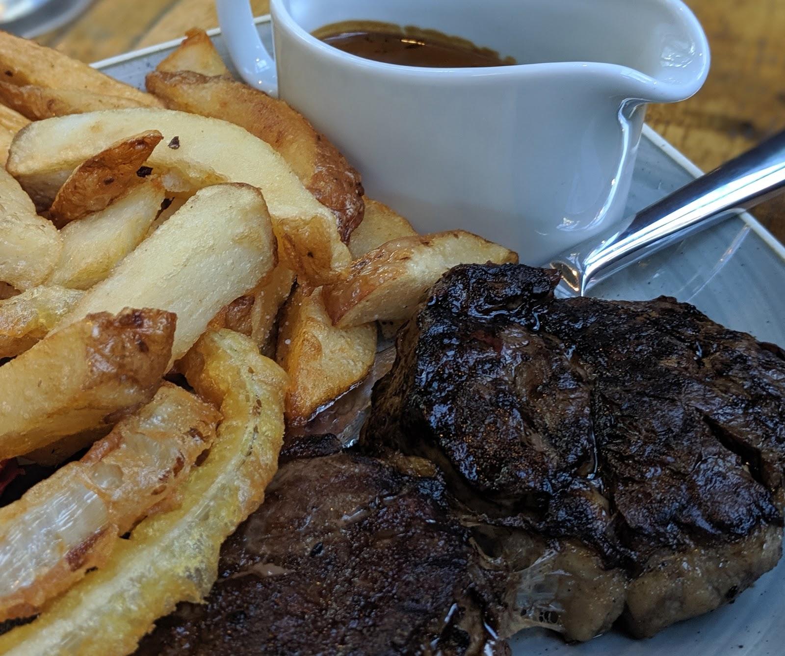 A Weekend Exploring Seaham Beach & Durham's Heritage Coast - Seaton Lane Inn - steak and chips