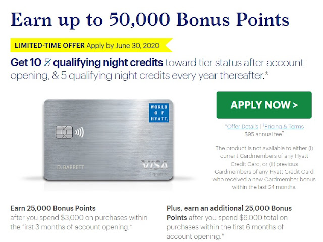 New Hyatt Credit Card Offers 10 Elite Qualifying Nights and Earn Up to 50,000 Welcome Bonus Points
