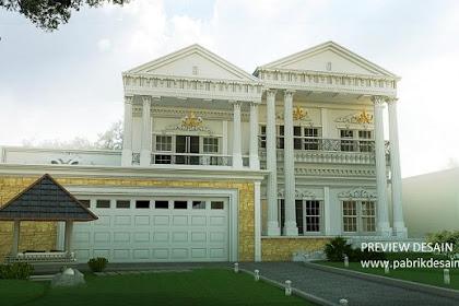 Jasa Desain Rumah Classic Eropa Mewah Megah Klasik Tropis