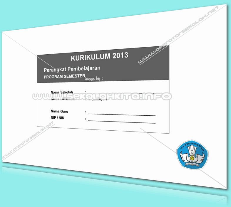 Program Semester Kurikulum 2013 SD Kelas 5 Revisi 2016