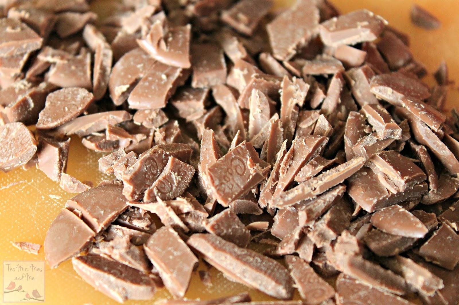 Cadbury chocolate buttons chopped