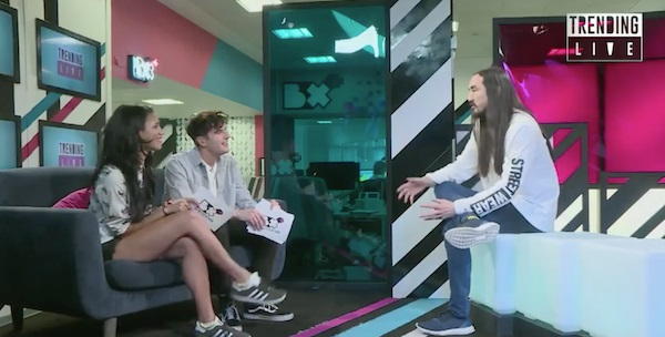 Steve Aoki talks working with Louis Tomlinson and 1D fandom