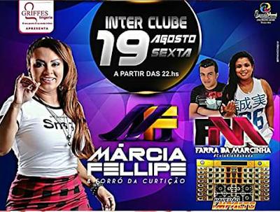Nesta sexta feira (19) tem Marcia Felipe e forró da Curtição em Anapurus.