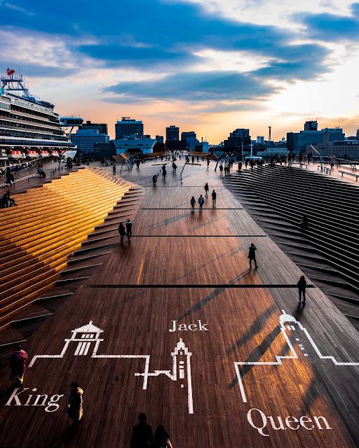 夕日,横浜,大桟橋,みなとみらい