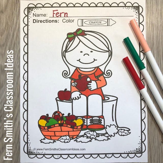 Apples Coloring Pages - 35 Pages of Apple Coloring Fun from #FernSmithsClassroomIdeas