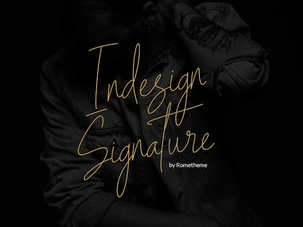 Indesign Signature Font Free Download