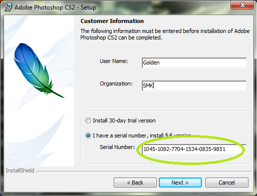 Adobe Photoshop cs2 with serial number Free Download
