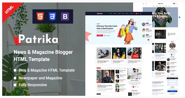 Patrika Template Blogger News Magazine