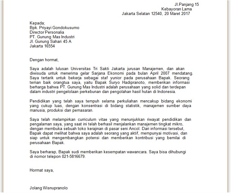 18 contoh surat lamaran kerja inggris indonesia 2017 dalam hal ini penulis surat lamaran harus memperhatikan baik bahasa surat yang harus sesuai eyd dan konten susunannya yang rapi serta teratur thecheapjerseys Images