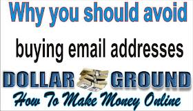 avoid buiying email addresses