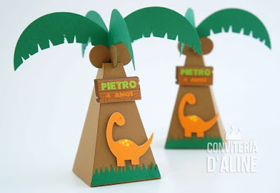 dinossauros lembrança festa coqueiro