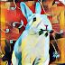 Suerte durante todo el mes conejo, conejo