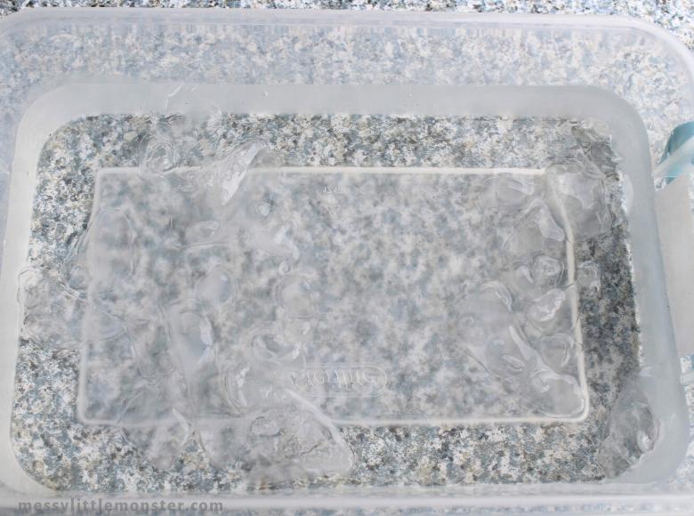 ice sensory bin