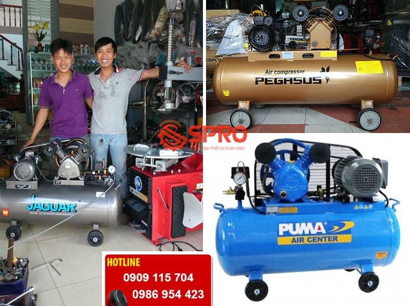 Máy bơm hơi, máy nén khí dành cho tiệm sửa xe máy