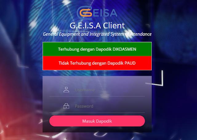 Karena ada sinyal akan diberlakukannya Geisa Online untuk mempermudah ketidakhadiran GTK yang ter Install Geisa Online DHGTK FingerPrint