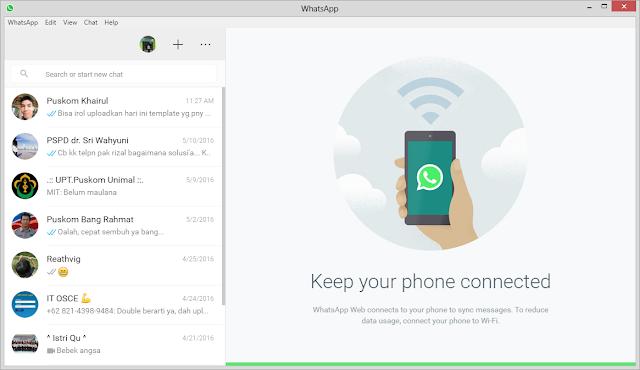 Yuk, Coba Aplikasi WhatsApp Untuk PC