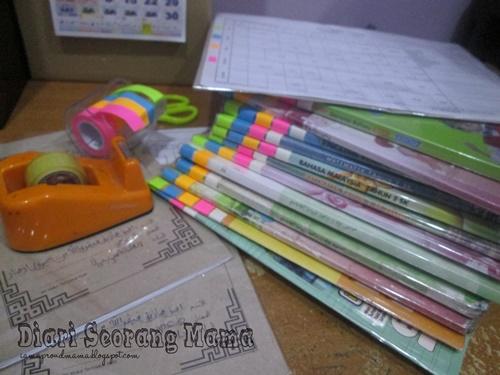 Teknik Menyusun Buku Mengikut Jadual Sekolah