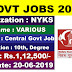 Nehru Yuva Kendra (NYKS) Recruitment 2019- Apply Online for 337 MTS, Assistant and Various posts@nyks.nic.in