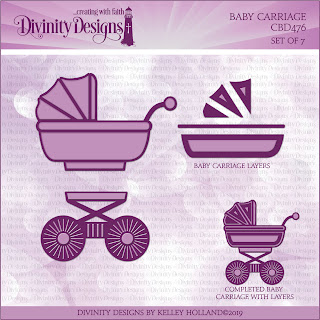 Custom Die: Baby Carriage