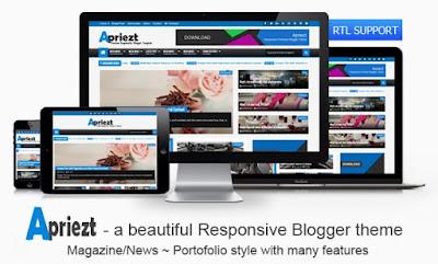 Apriezt-Premium Blogger Template Free Download in Hindi