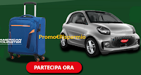 Logo Findus ti premia ''Vinci tu, vince il pianeta'' : in palio Trolley American Tourister e auto Smart EQ