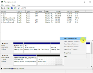 Cara Membuat Partisi Flashdisk di Windows 10